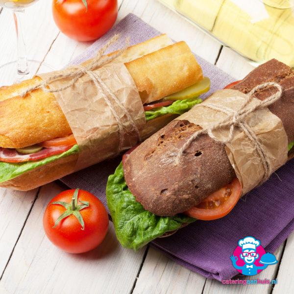 Belegde broodjes stokbrood catering aan huis