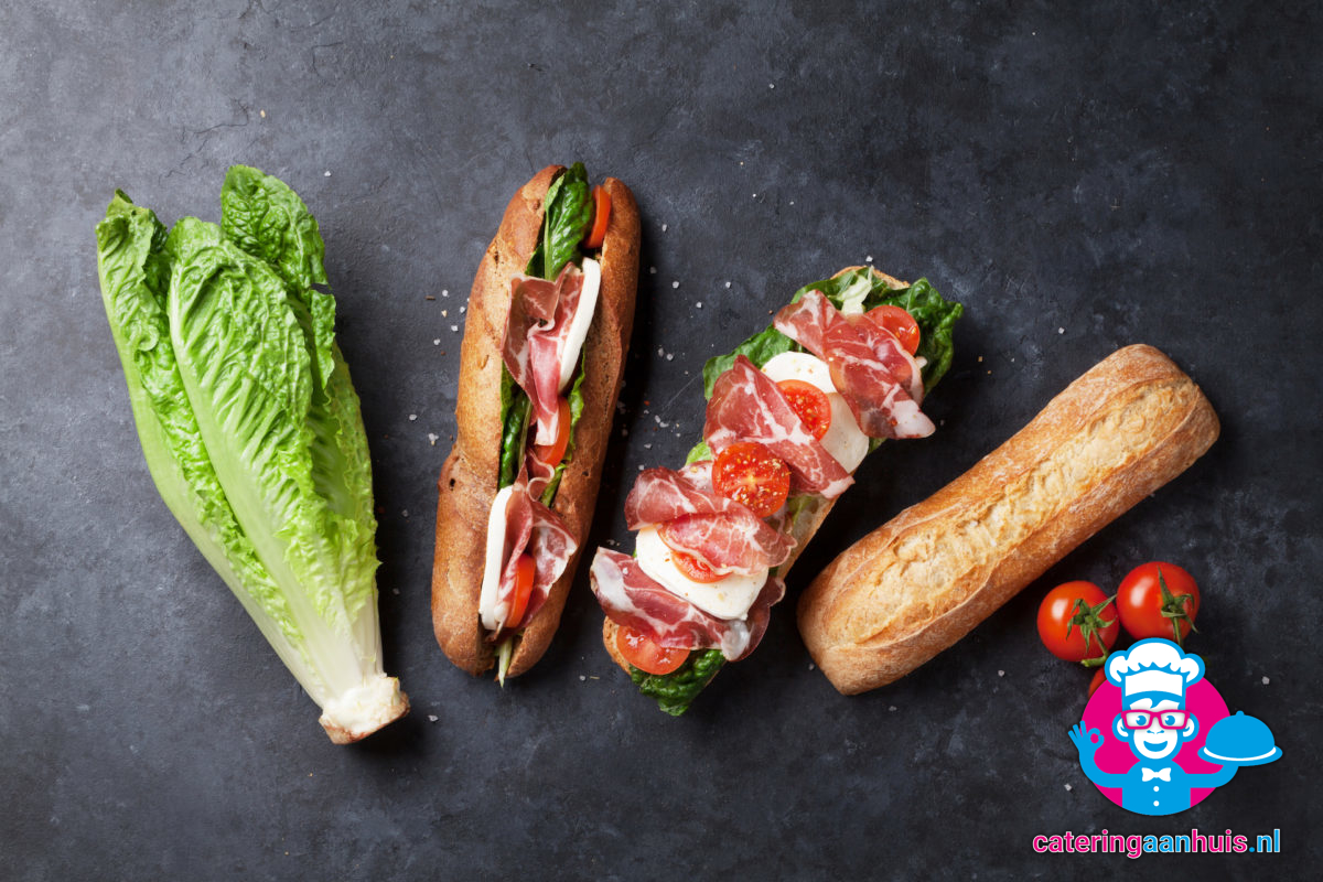 Belegde harde broodjes catering aan huis