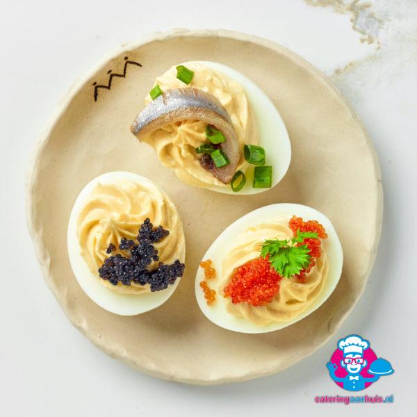 Gevuld eitje bestellen hapje catering aan huis