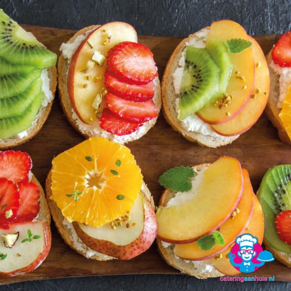 Gezond hapjes fruit catering aan huis