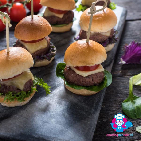 mini hamburgers hapjes catering aan huis