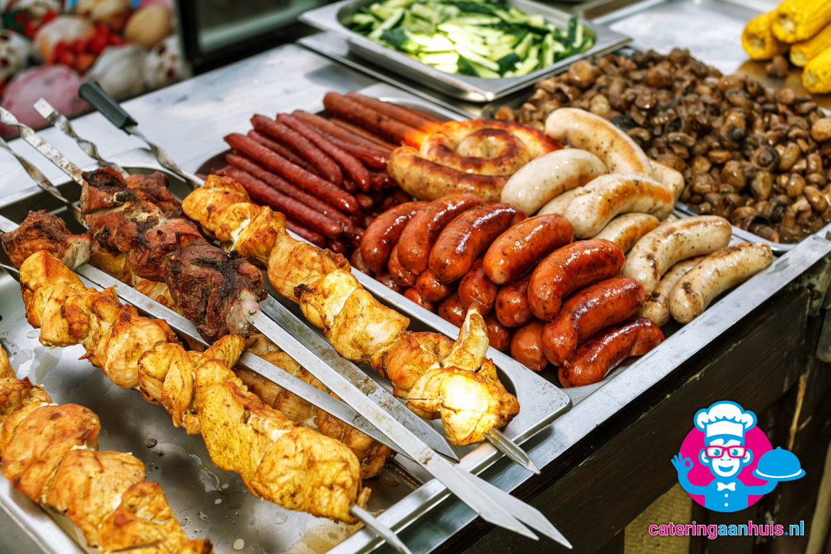Barbecue buffet populair - Catering aan huis