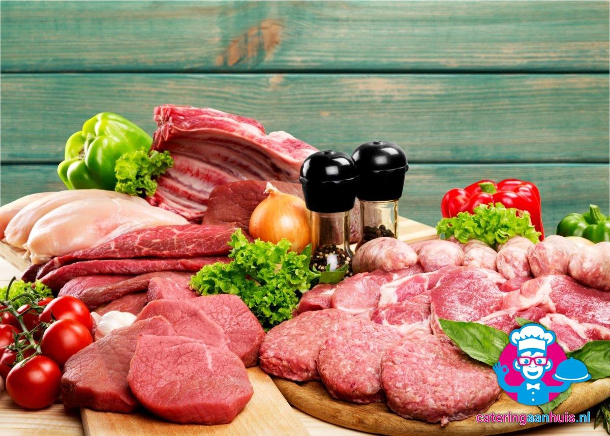 Barbecue vlees vis salade - Catering aan huis