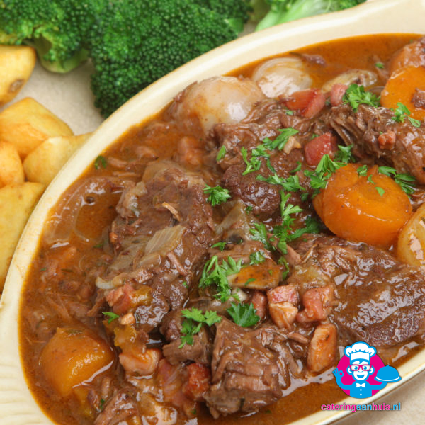 Boeuf bourguignon - Frans buffet - catering aan huis
