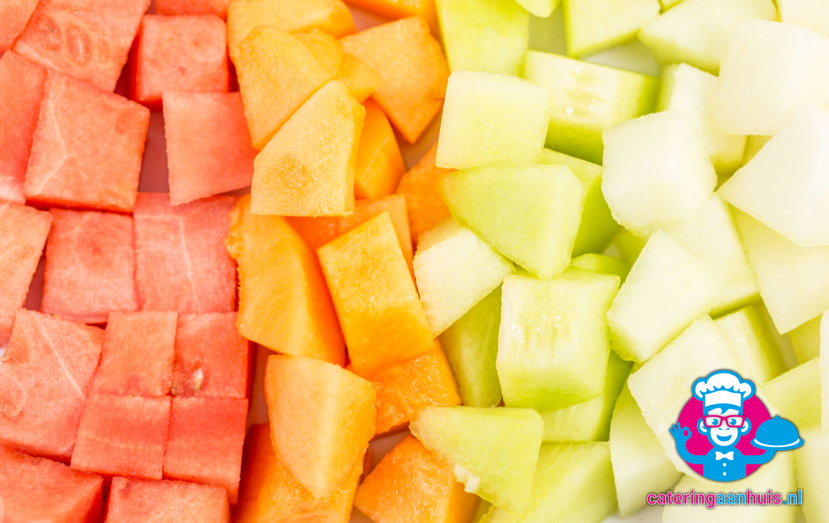 Fruitsalade meloen mix bestellen - Catering aan huis