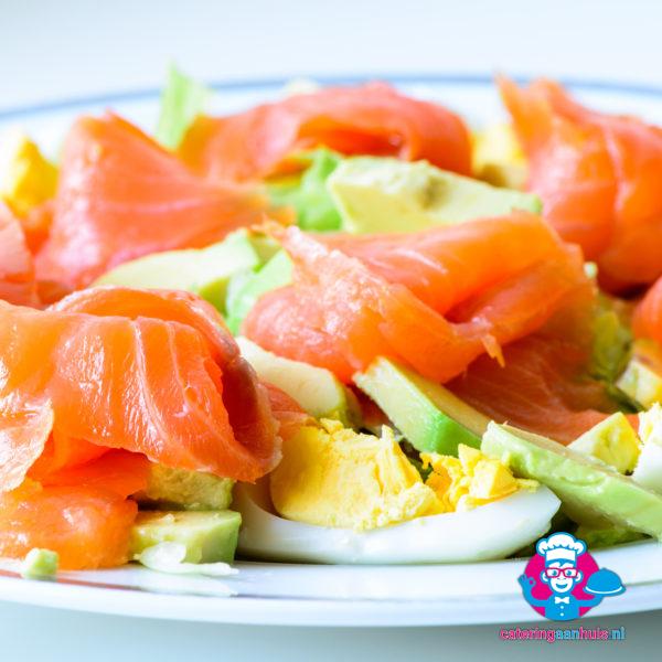 Gerookte zalm avocado salade - Catering asan huis