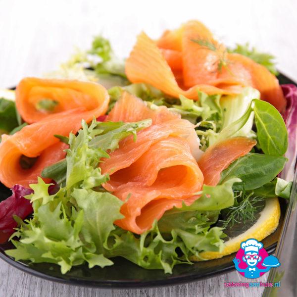 Gerookte zalm salade - Catering aan huis