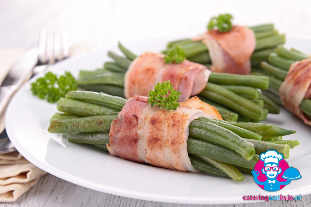 Haricots verts met spek - Frans buffet - Catering aan huis