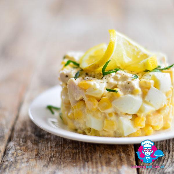 Kipkerrie saladeschotel - Catering aan huis