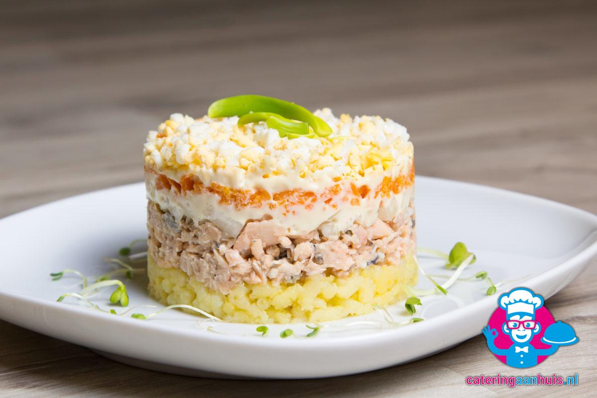 Zalm saladeschotel - Catering aan huis
