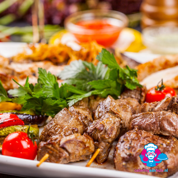 biefstuk spies barbecue buffet luxe - catering aan huis