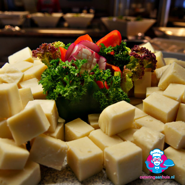 Blokjes kaas catering aan huis