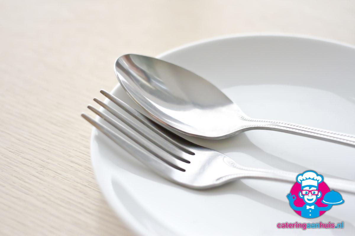 bord lepel vork verhuur - catering aan huis