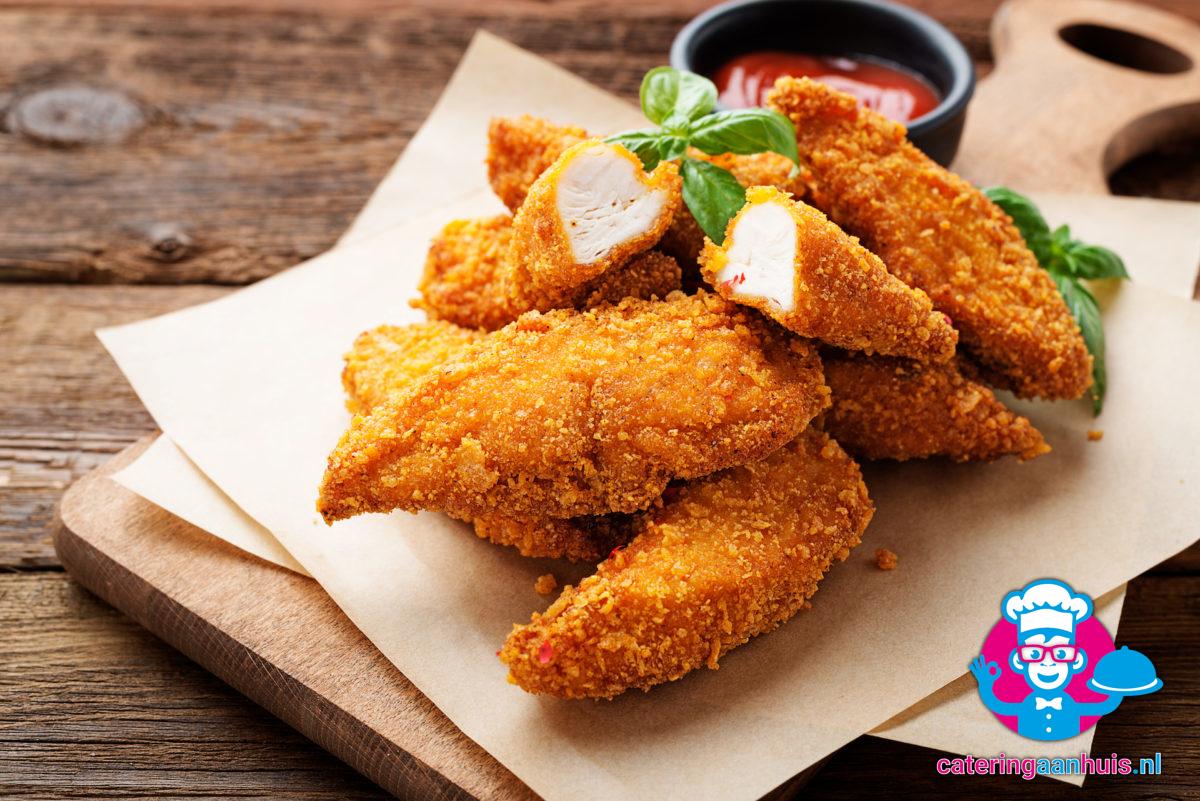 kip stukjes gepaneerd catering aan huis