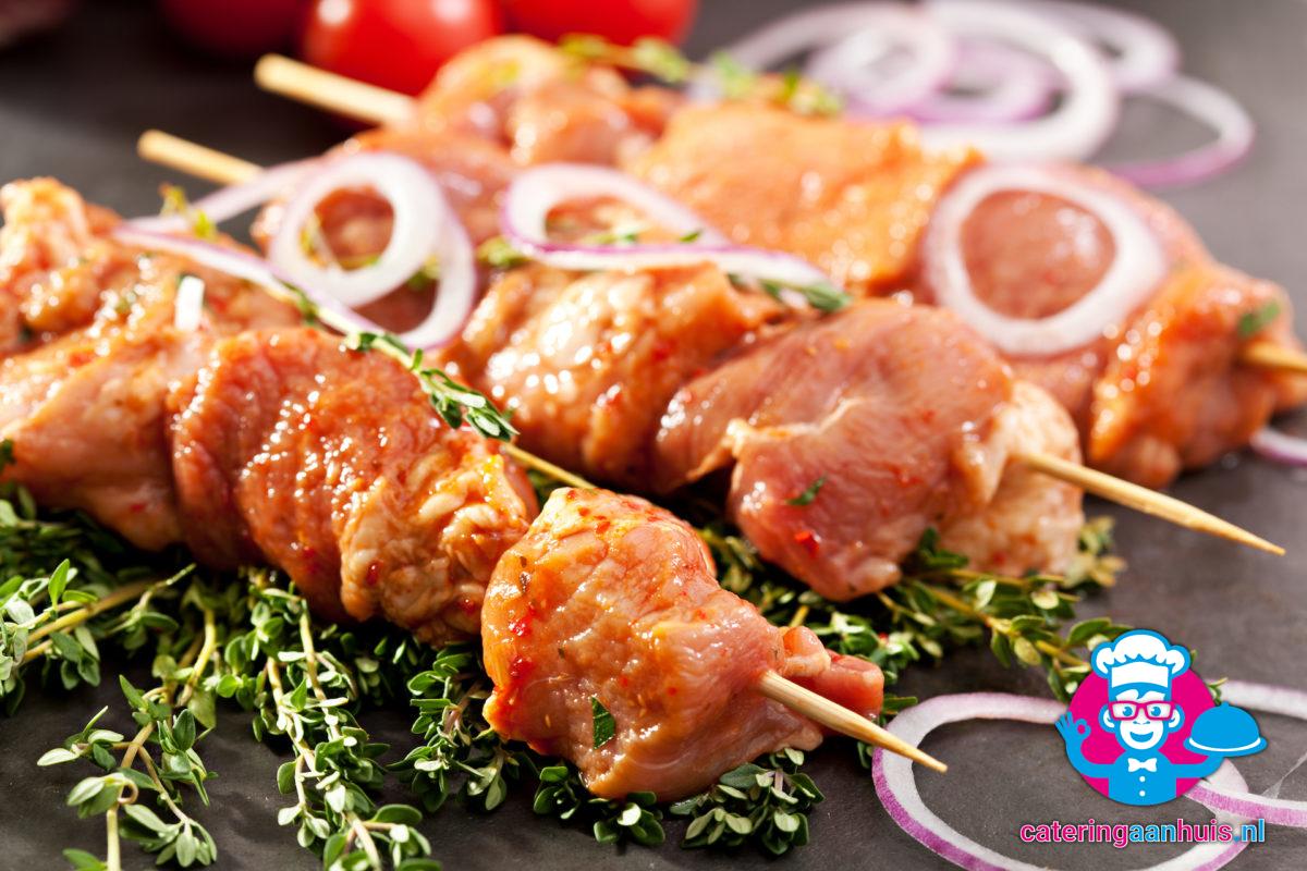 kip varken sate - barbecue vlees - catering aan huis