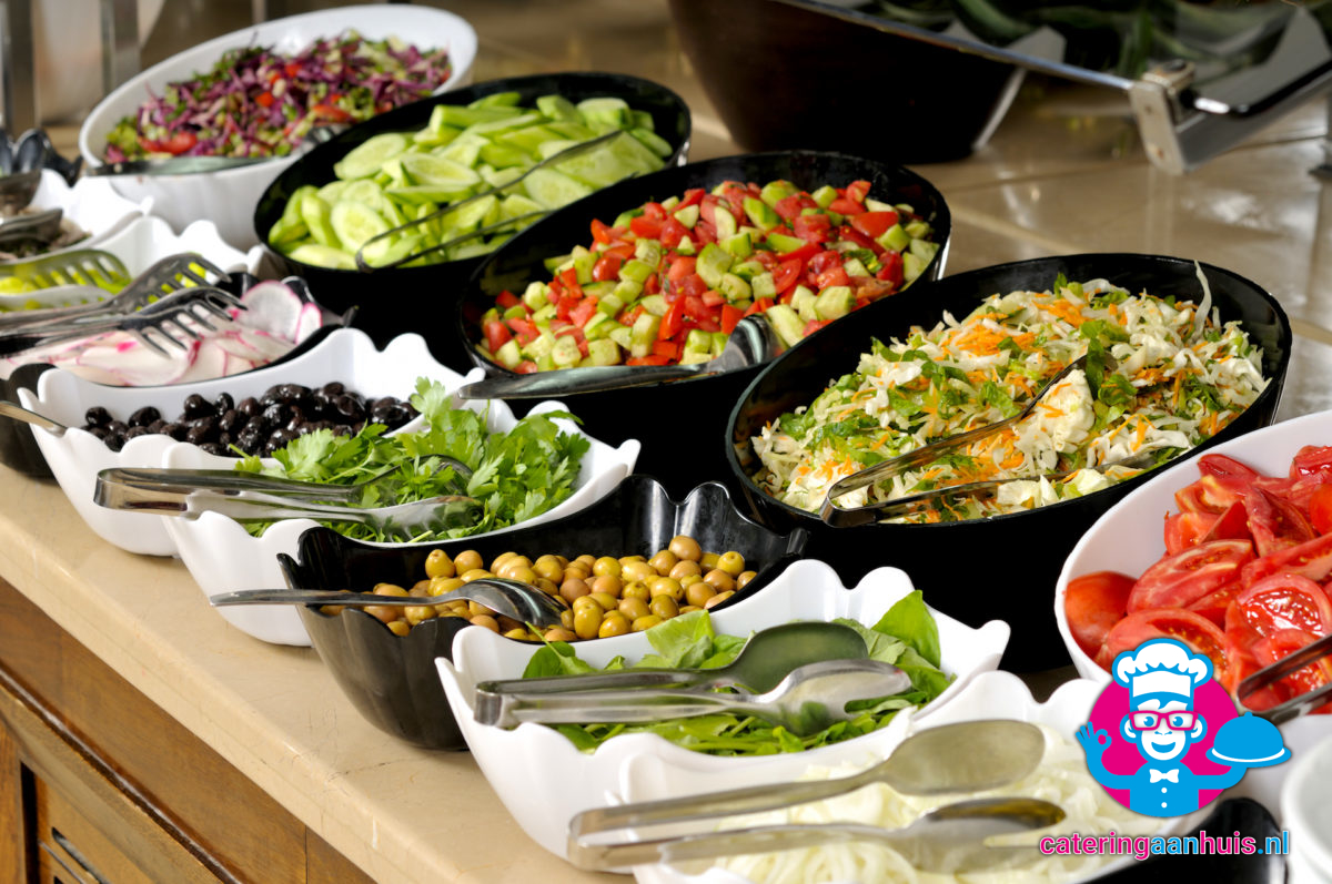 salade rauwkost barbecue buffet - catering aan huis