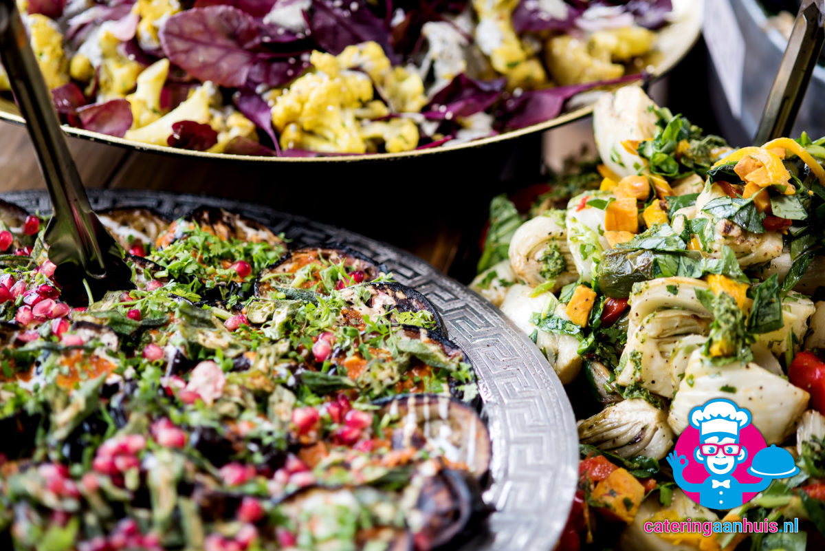 salades barbecue buffet simpel - catering aan huis