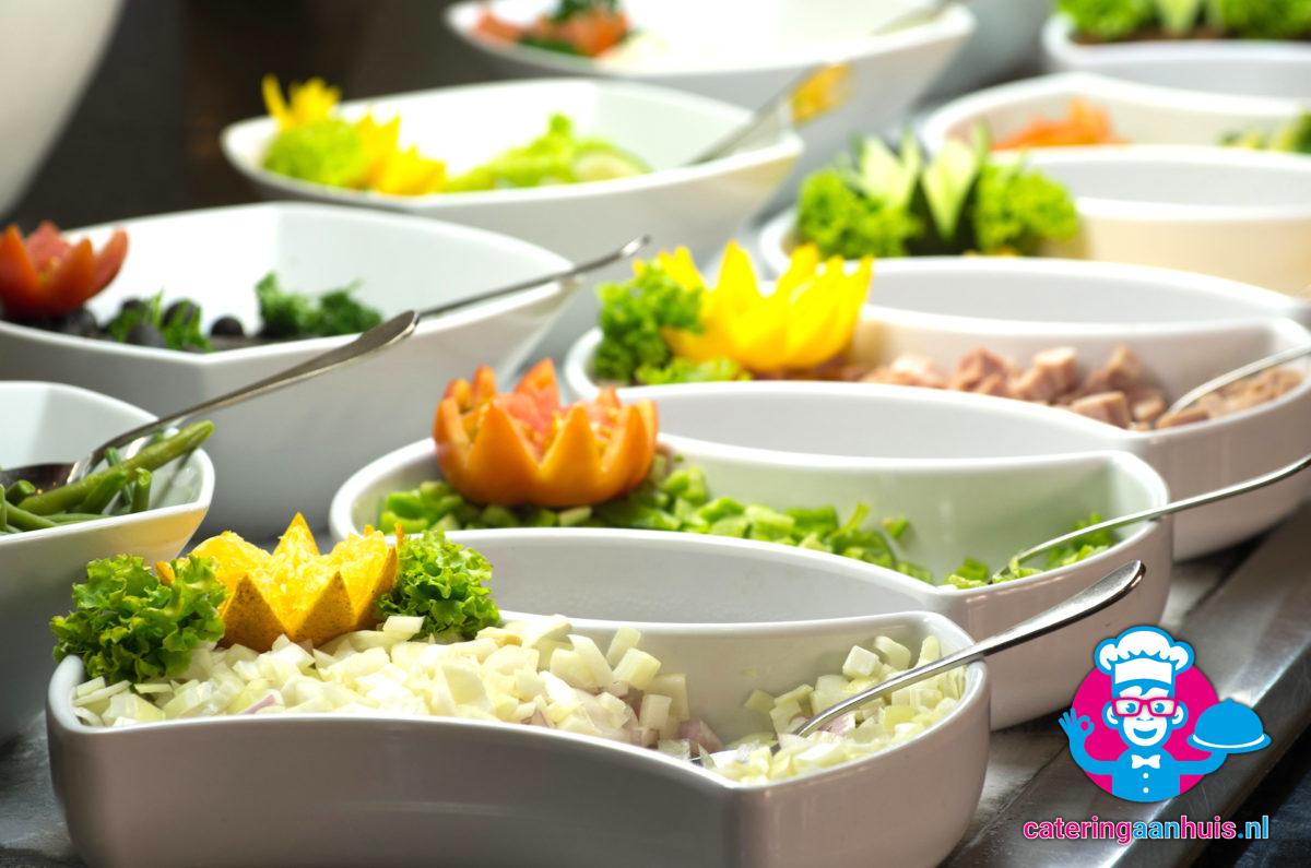 salades barbecue populair - catering aan huis