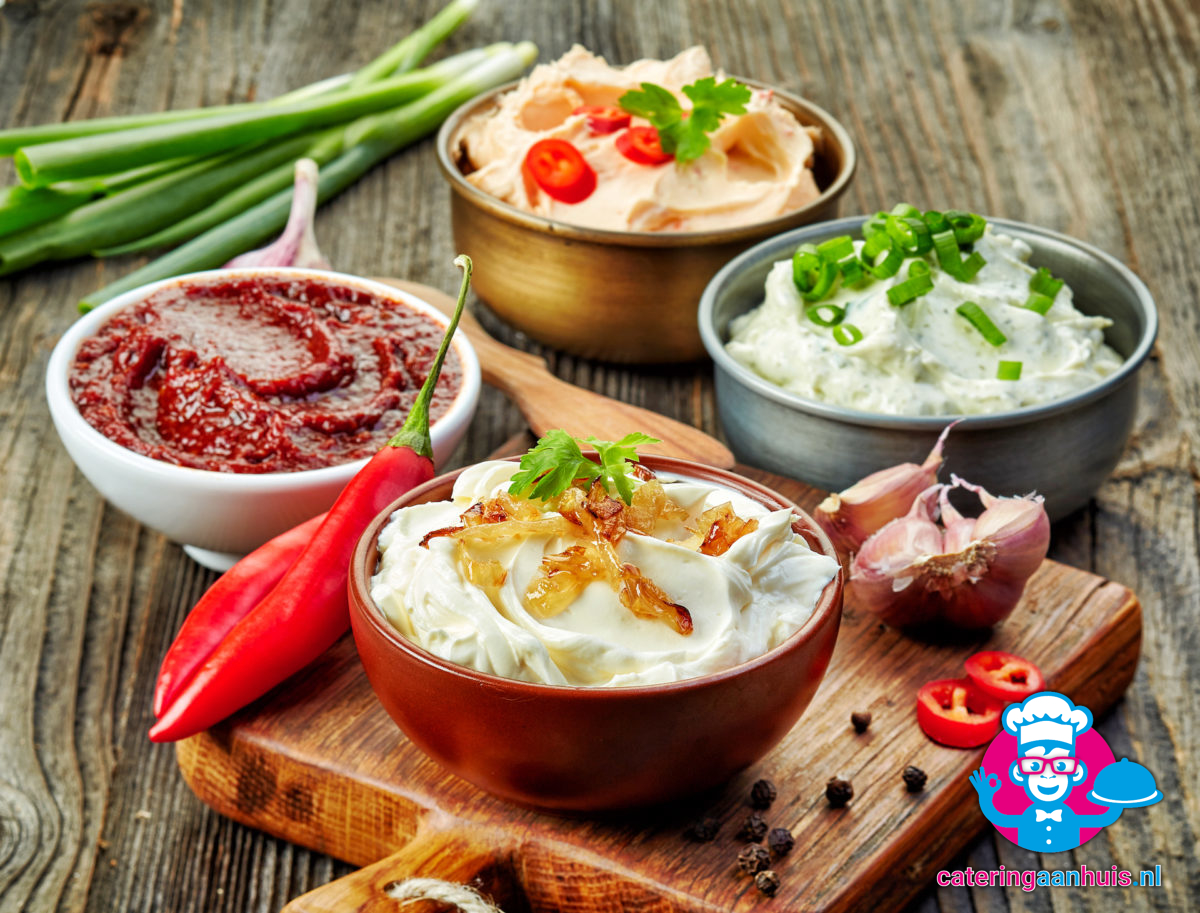 sauzen - barbecue vlees - catering aan huis